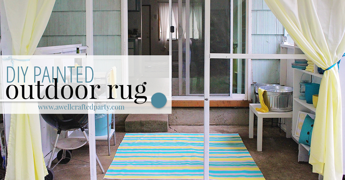 Diy Outdoor Rug From A Drop Cloth A Well Crafted Party