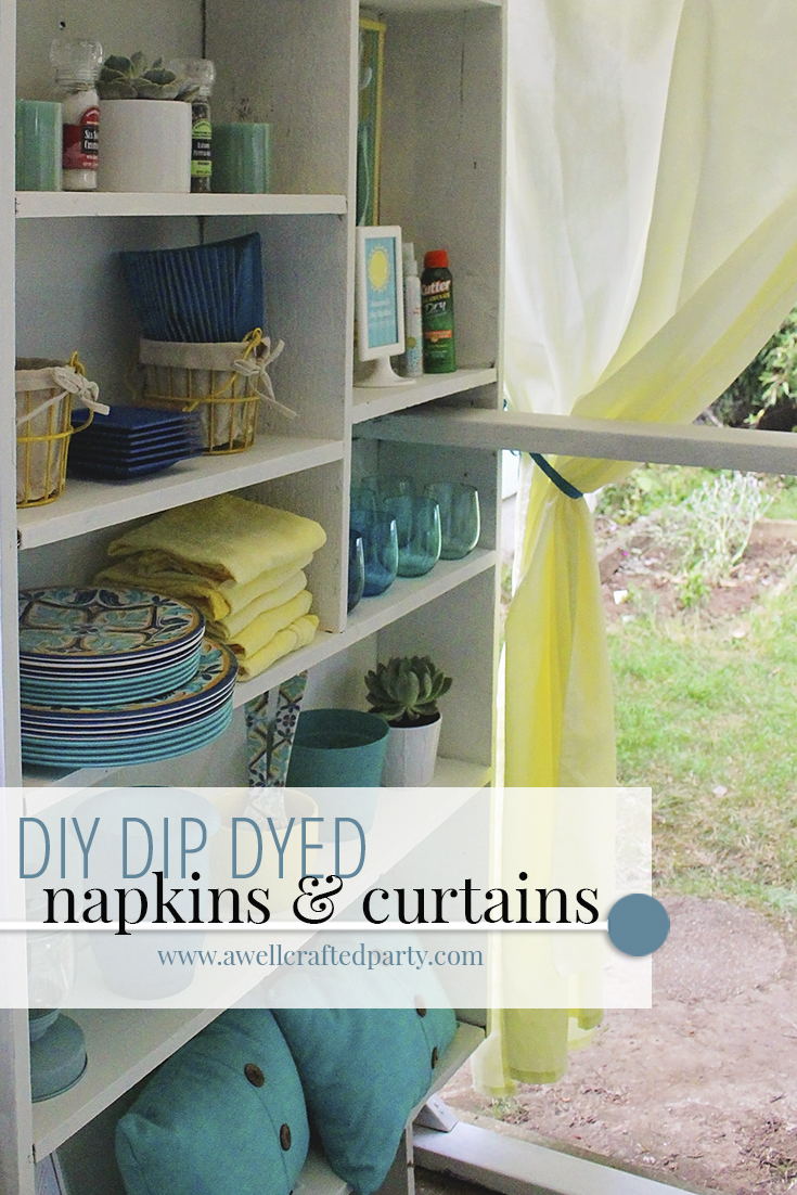 DIY Dip Dyed Linens – DIY Porch Projects Pt 3