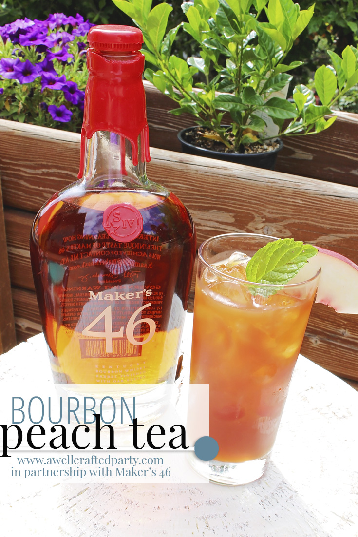 Saturday Spirits: Bourbon Peach Tea Cocktail