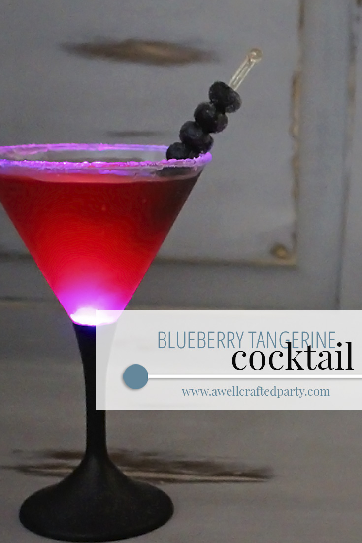 Saturday Spirits: Blueberry Tangerine Cocktail