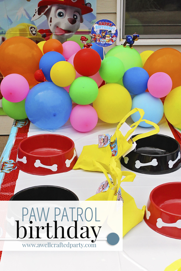 Paw Patrol Party 5th Birthday