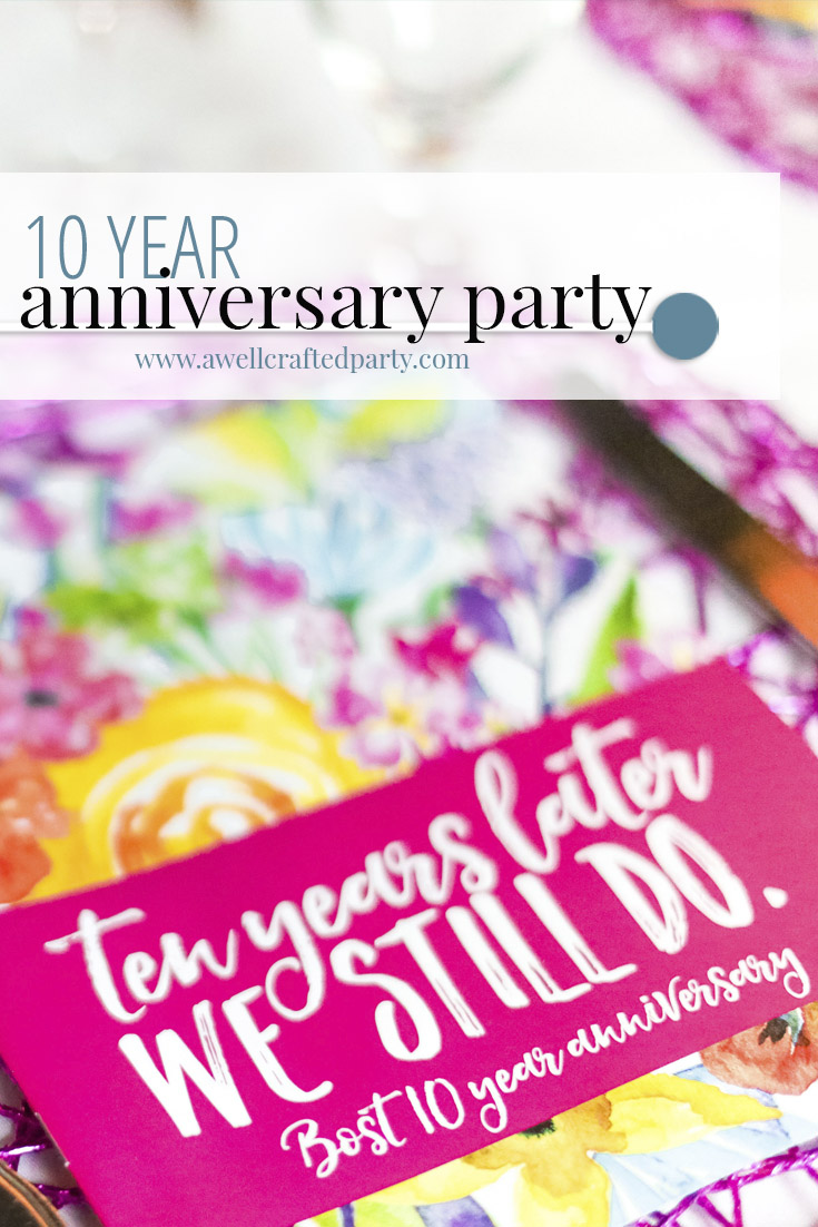 Real Party: 10th Anniversary Party Decor