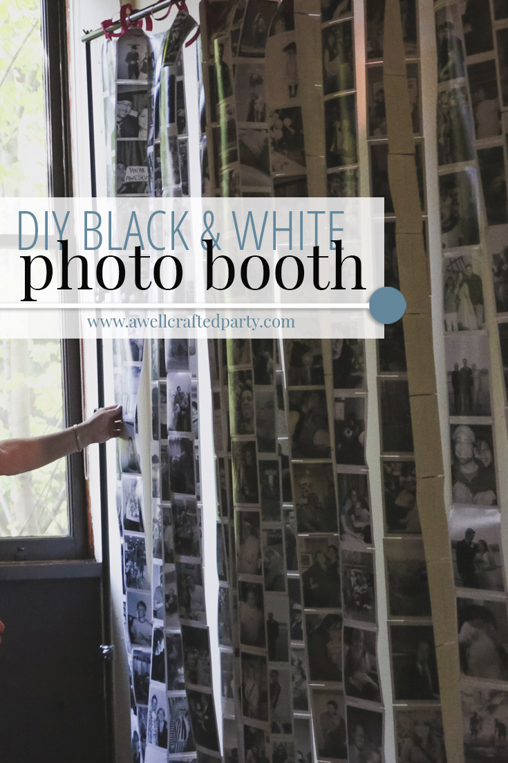 Photo Memory Black and White Photo Booth Backdrop
