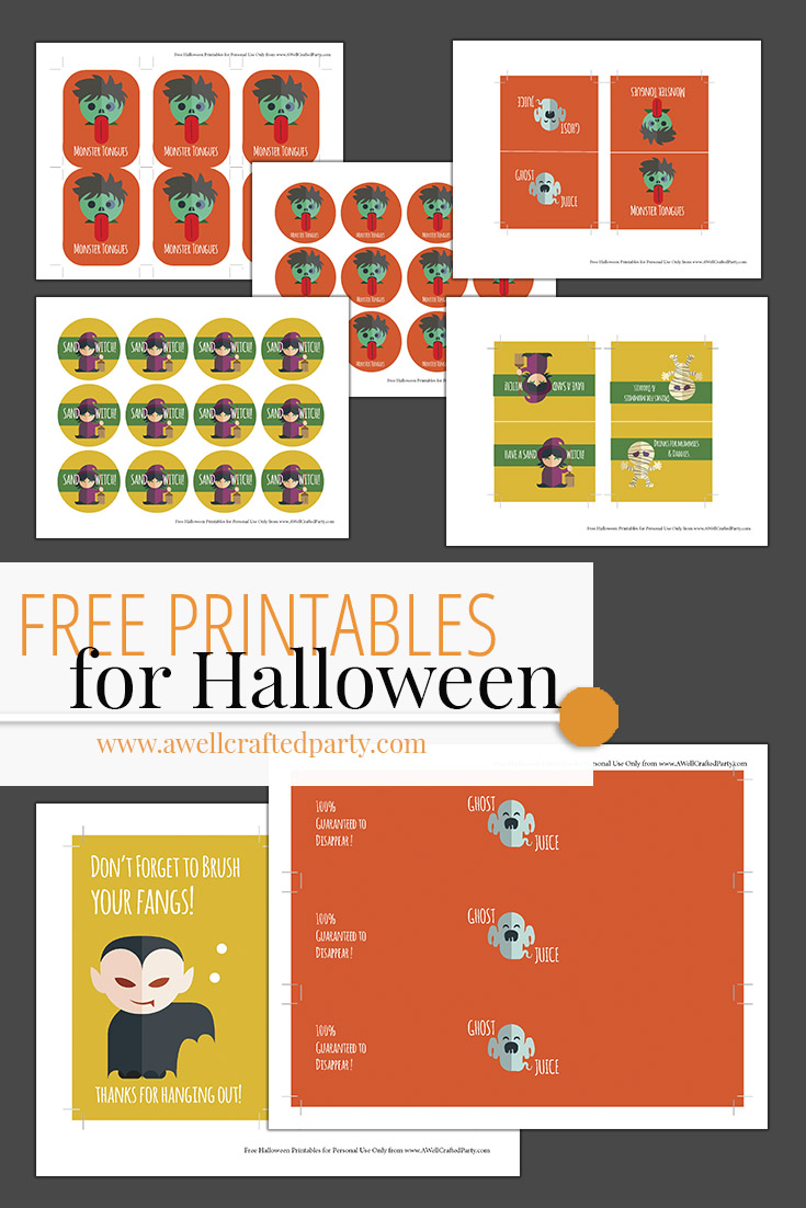 Kid Friendly FREE Halloween Printables