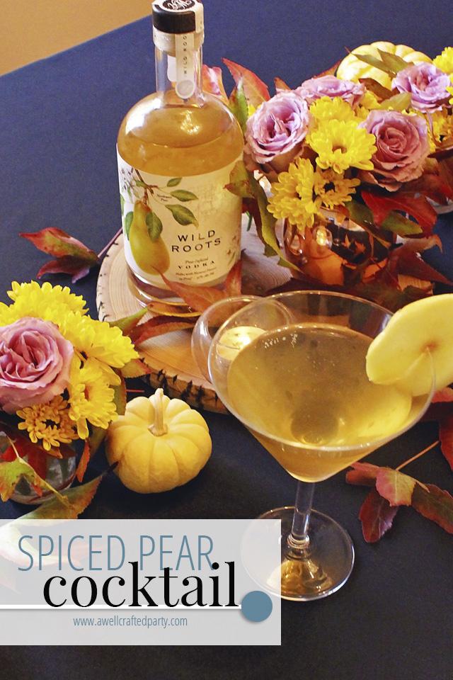 Saturday Spirits: Spiced Pear Vodka Cocktail