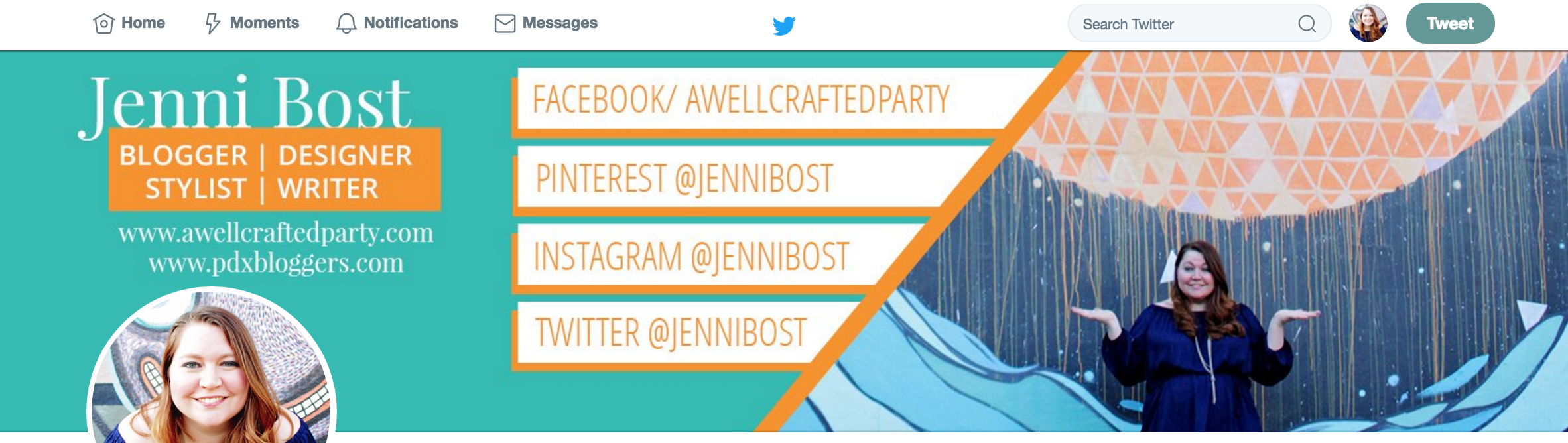 Social media profile branding | A Well Crafted Party